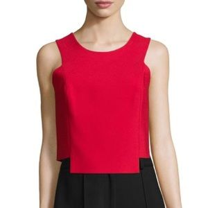 NWT Milly Red Double Crepe Shell